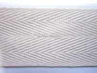 Braid 1.5 inch cotton webbing natural color cotton tape herringbone cotton webbing for banding tape