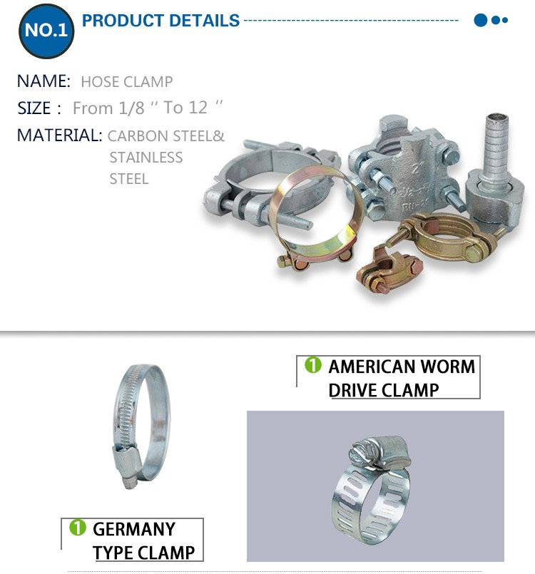 Fully stocked Excellent worm drive stainless steel hose clamps