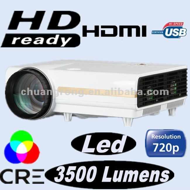 New superior HD Ready Beamer 2800 lumens Native 720p lcd led multimedia projector
