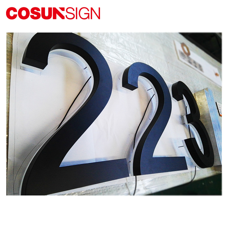Emboss Metal Magnetic Self Adhesive Abs Plastic 3D Chrome Letter And Numbers