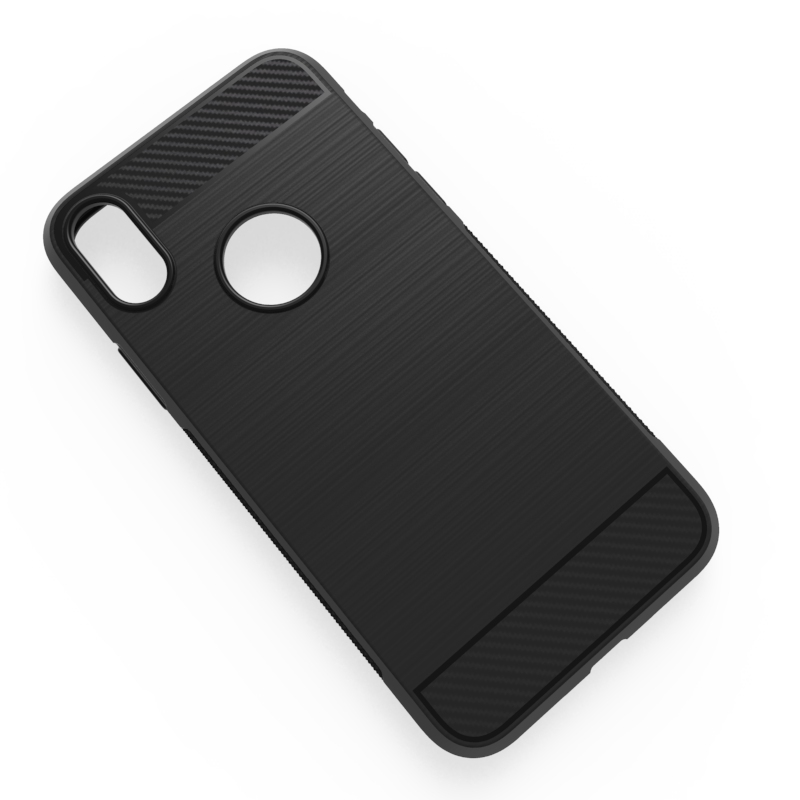 Carbon fiber drawing tpu soft case for Iphone 8 mibole phone back cover