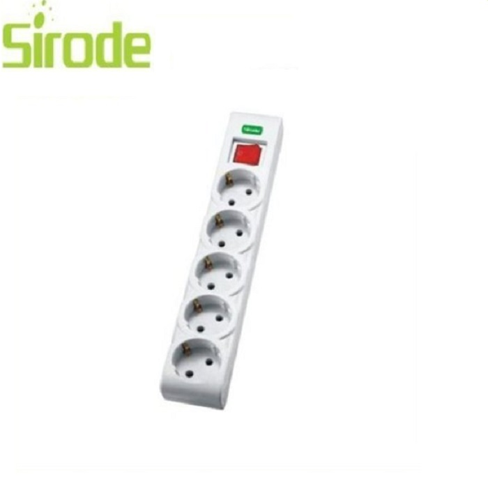 CE Sirode Manufacturer European type power extension socket 5 gang 1 switch