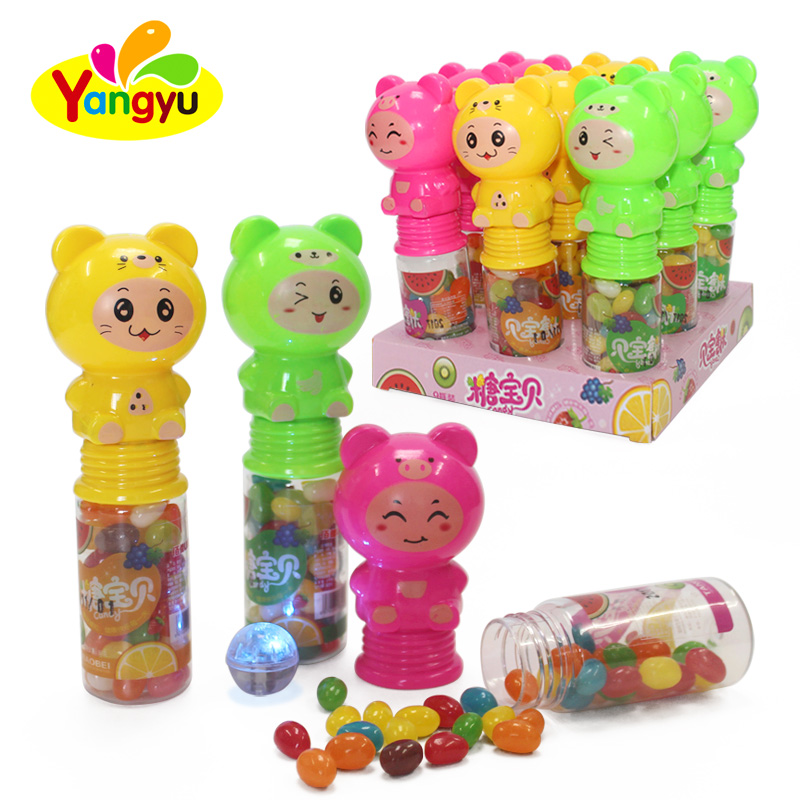 Lighting Bear Toy filled wtih Halal fruits Jelly Bean