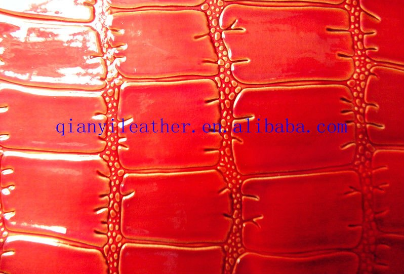 new design semi-pu crocodile leather for sofa and decorative