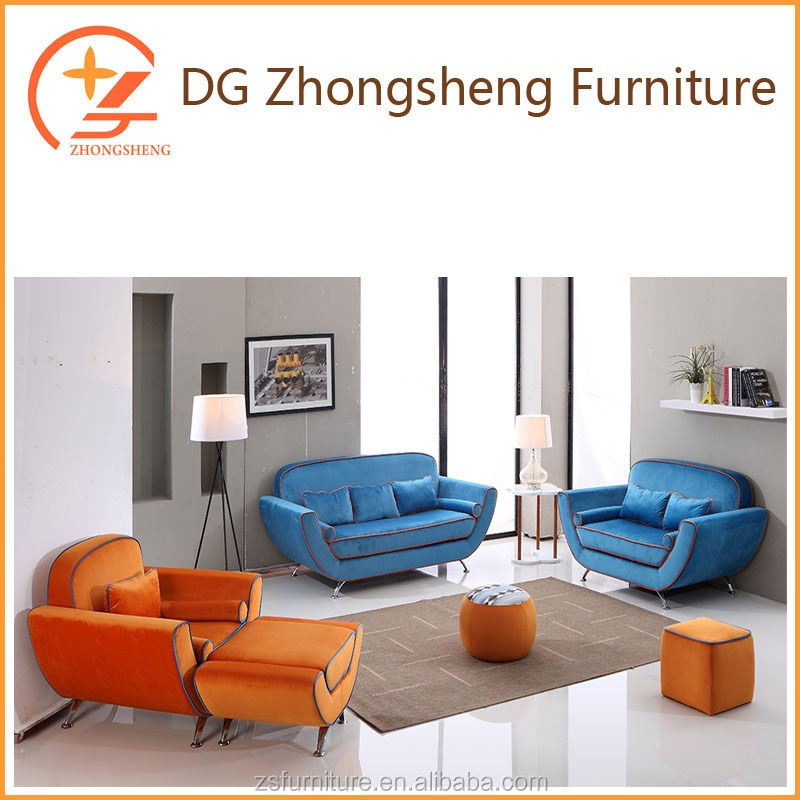 modern sofa furniture with steel legs for living room
