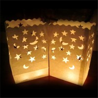 2016 fireproof paper candle bags for decoration colored luminary candle bags