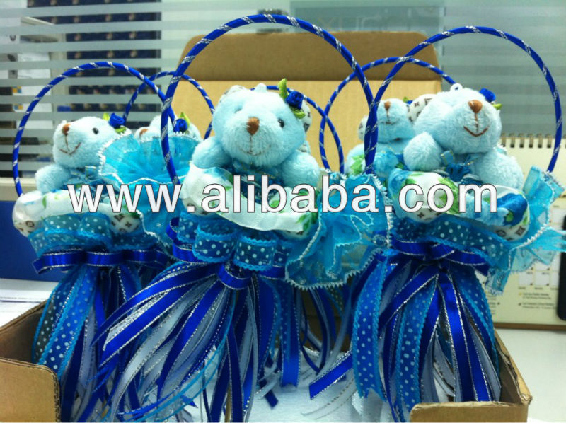 Blue Hanging Teddy Bear Party/Wedding Gifts 11cm x 20cm