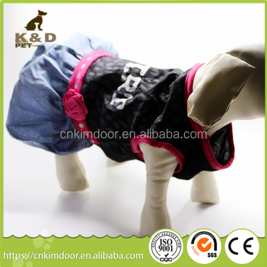 Cloths for dog, cotton cute pet dog sweatshirts cloth with bear doll, pet cloth skirt