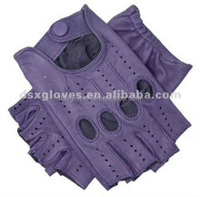 High Quality short finger leather gloves used for motorcycle