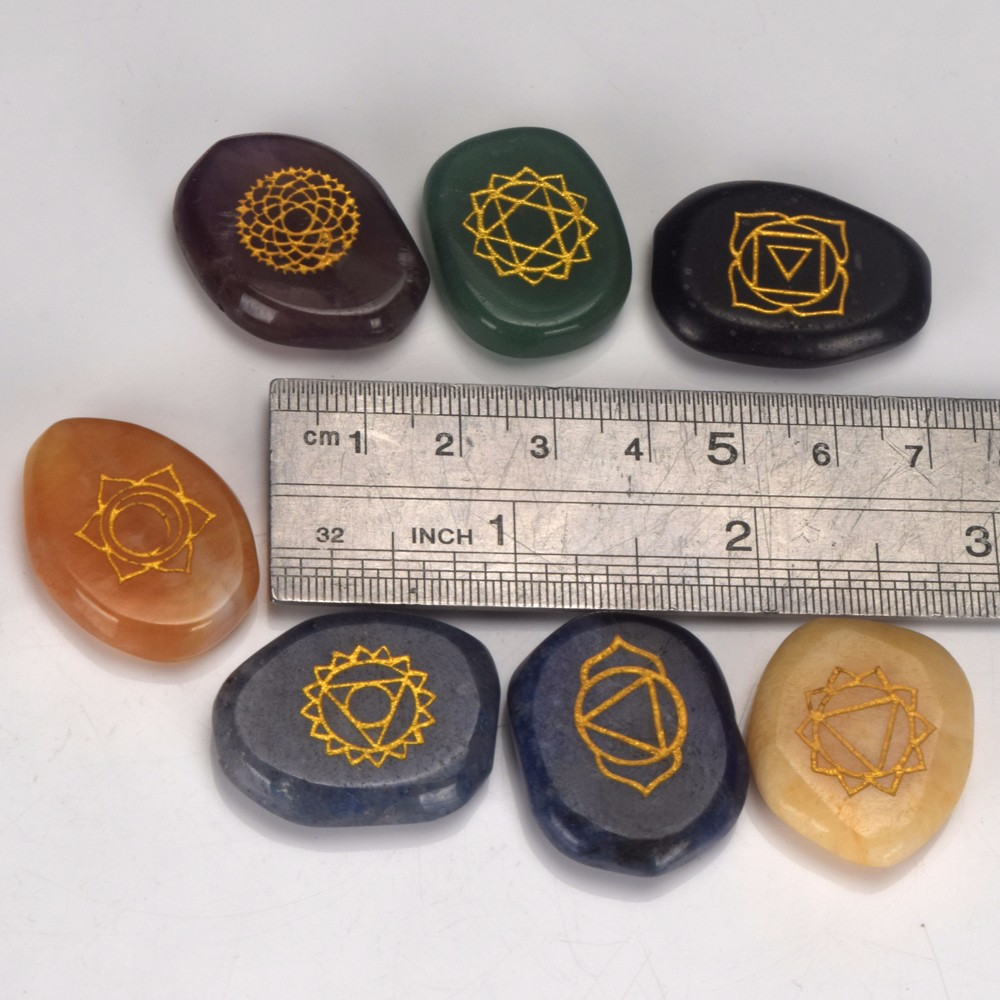 wholesale natural mixed engraved semi-previous gemstone words stones