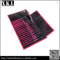 Synthetic Hair Makeup Brushes Kit with Cosmetic Case
