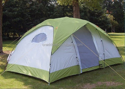 6 person two rooms one hall large family camping tent