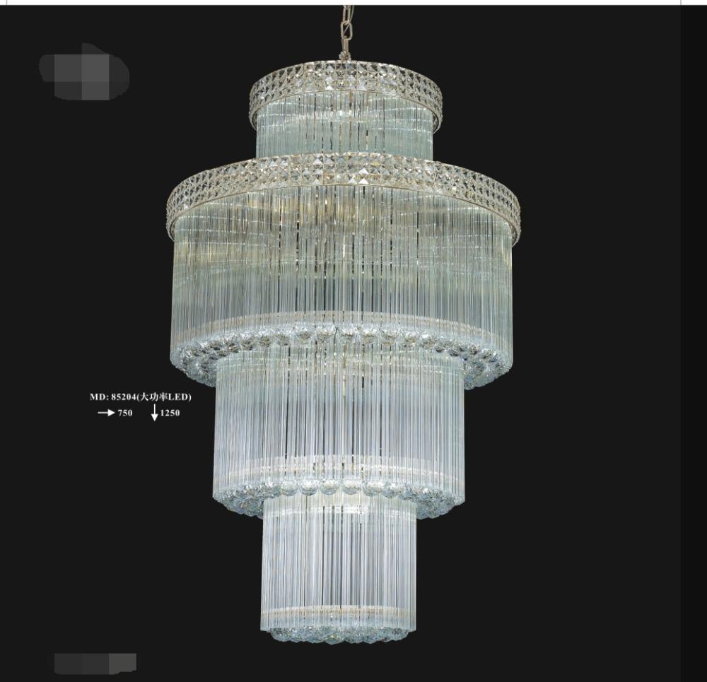 modern luxury waterfall crystal chandelier for wedding