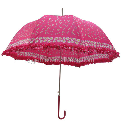 Ladies Umbrella with frill or lace