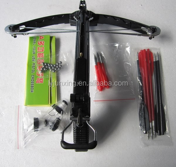 All aluminium pistol crossbow with arrow steel ball for Mini crossbow fishing