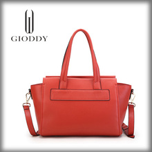 Hot selling high quality ladies pink genuine leather brand handbags