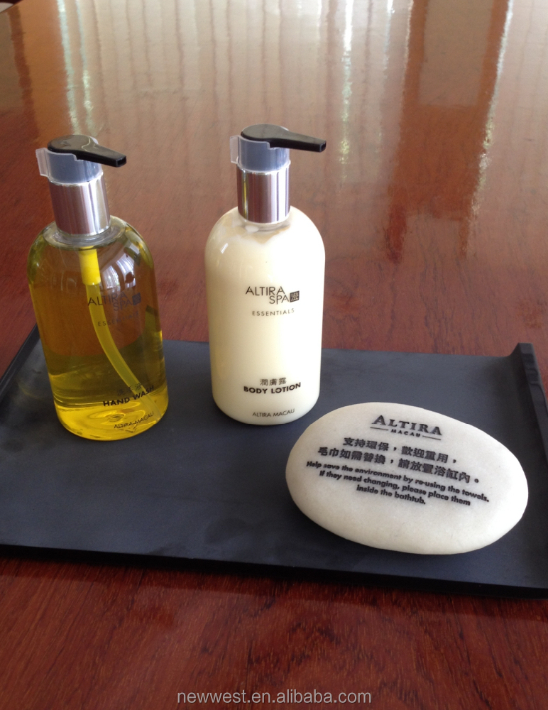 300ml hotel shampoo bottle with pump and holder