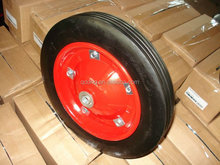 14 inch solid rubber wheel with metal rim Tool trolley wheel 14''*3'' Rubber wheel for trolley
