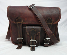 Factory direct Outdoor Sports unique vintage Geniune leather Camera Bag