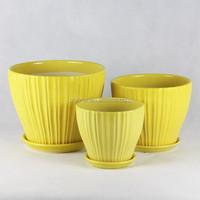yellow small flower pots garden pot plant pot planter 241Y