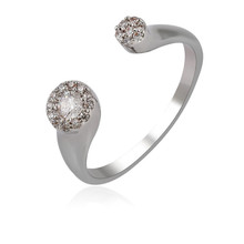 14119 Alibaba Purchasing Festival promotion finger ring, resizable finger ring ,white gold rings with diamonds