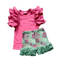 Fashion Children Summer Clothes Boutique Kids Clothing Sets New Arrival Sweet Girl Outfits