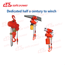 Electric Chain Hoist Cable Hoist With Trolley and Upper Limit Switch