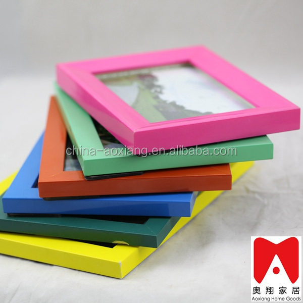 Colourful Plastic Picture Frame family frame design decorative 4x6 5x7 6x8 8x10 Wedding photo album and frame sets
