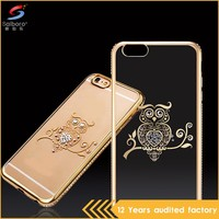 For iphone 6 case crystal transparent customize wholesale supply in guangzhou