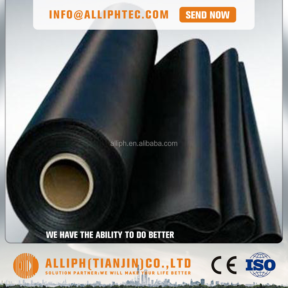 1mm thick black geo-membrane pond liner