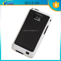 VCASE Wholesale armor bar design pc + silicon phone case for samsung i9100 galaxy s2