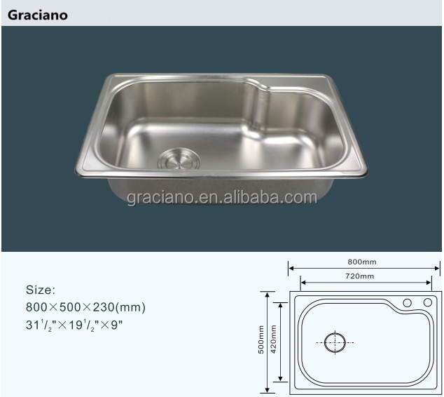 JNS190 Wholesale Kitchen Lab Stainless Steel Hand Wash Sink