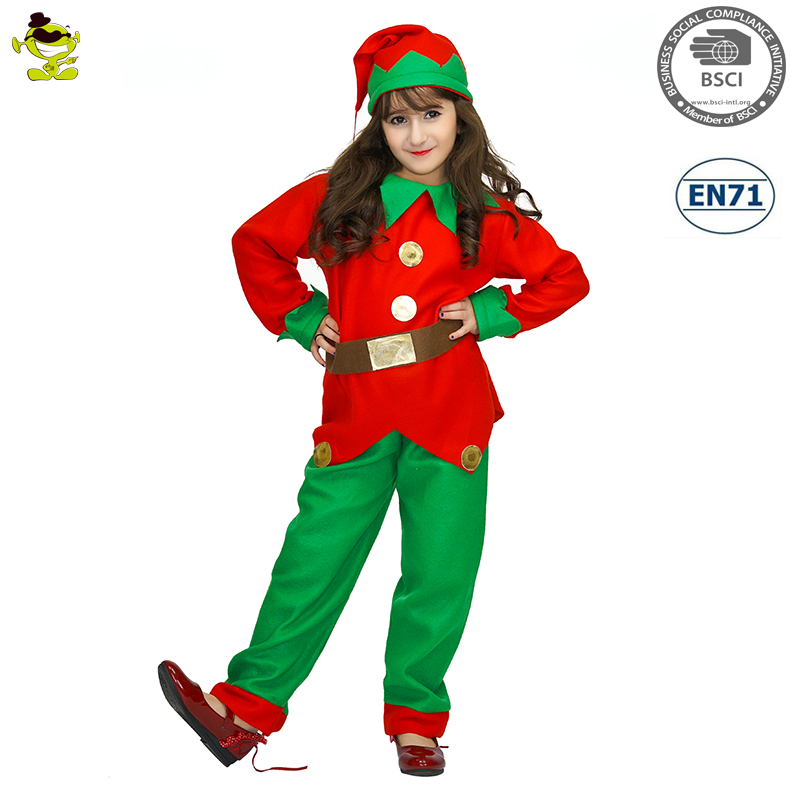 Girls Elf Costumes Kids Christmas Carnival Party Fairy Role Play Suits Loveable Redu0026Green Elfin Decoration Clothes  sc 1 st  Alibaba & Girls Elf Costumes Kids Christmas Carnival Party Fairy Role Play ...