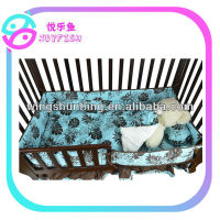Baby Girl Forest Blue Nursery Bedding