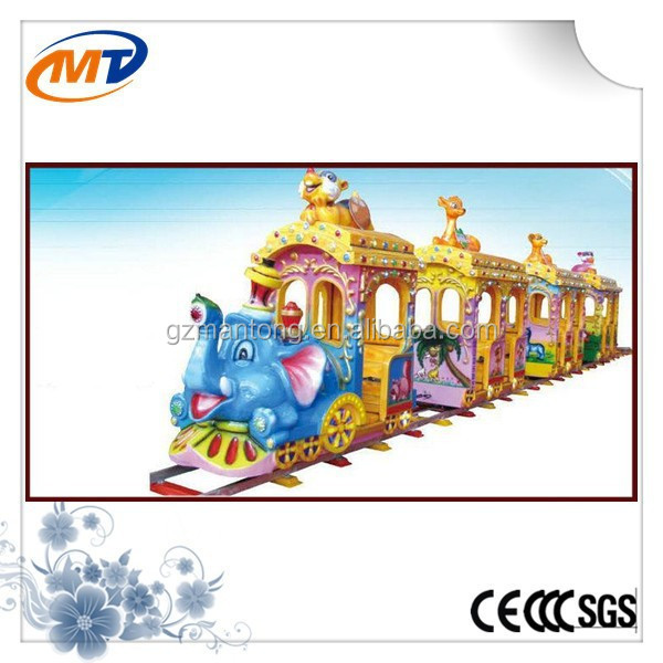 Trackless train Elephant train Antique train for children