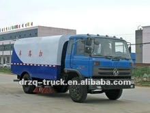 dongfeng vacuum road sweeper, garbage container truck