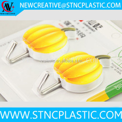 2pcs set pumpkin Shaped Fruits or Veg Strong adhesive wall hanger cloth hook