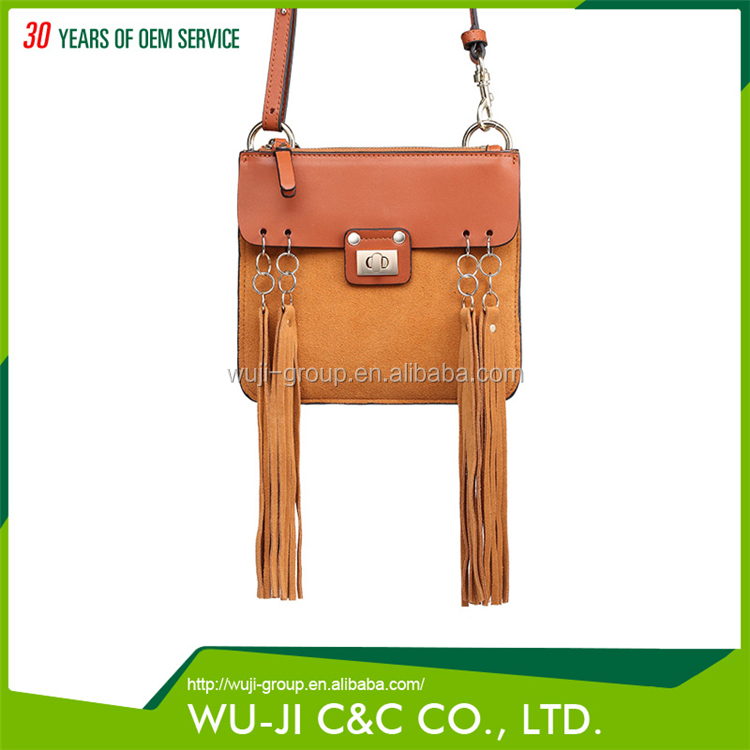 China Made Top Grain Lady Leather Women's Crossbody Bag