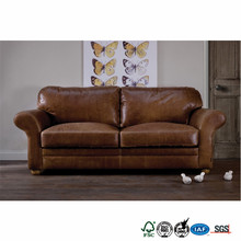 new design vintage Style violino leather sofa
