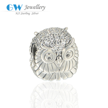 Excellent desigh owl silver bead hot new products for 2015