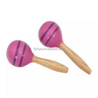 hot sale chinese hand drawing wood material egg maracas for children