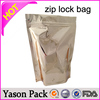 Yason hot slider zipper grape bag stand up aluminum foil zipper seed packaging bag