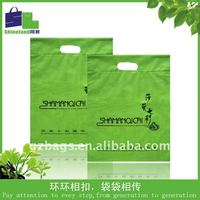 ldpe/hdpe/ natural die cut bag for gift