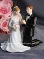 Kneeling Couple Figurine for wedding cake toppers