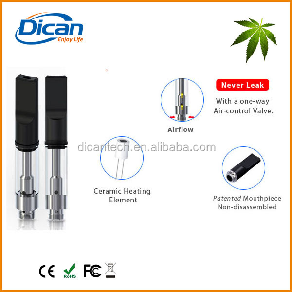 2017 new trending cheap products 510 thread cbd glass cartridge ceramic chamber heating oil vape atomizer 0.5ml leaking proof