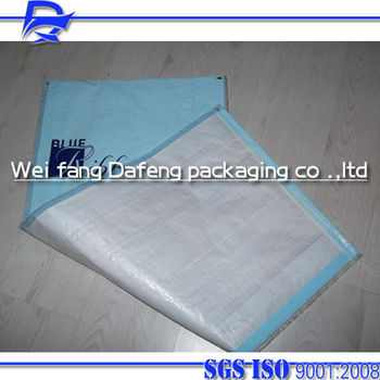 polypropylene tubular woven plastic bags for Chicken feed animal feed all kinds of vegetables,for 25kg/50kg with gift