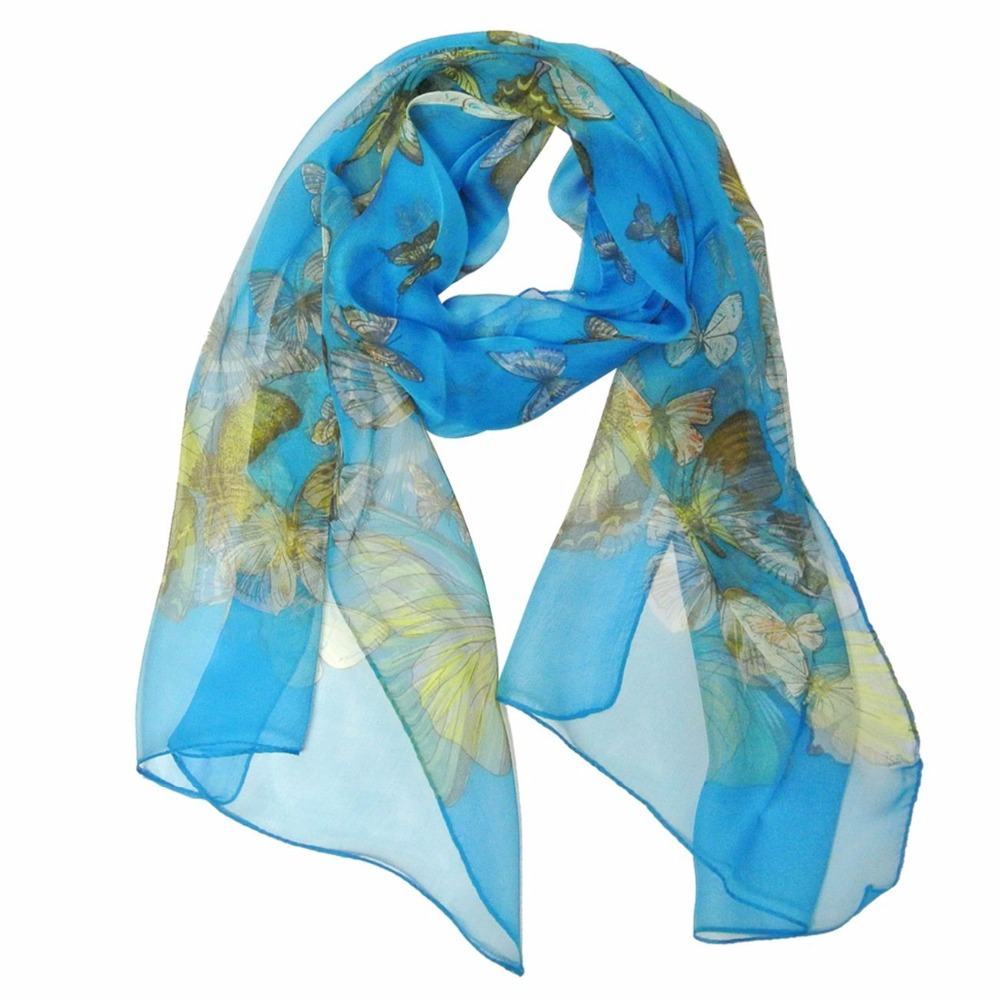 Hot Selling Wholesale Custom Digital Printing Silk Chiffon Scarf
