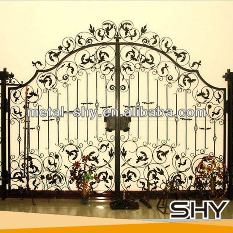 metal double swing doors exterior iron gates models