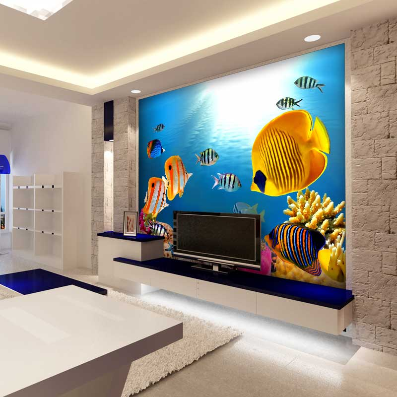 Custom Size Decoration Colorful Captivating Delight Murals Wallpaper