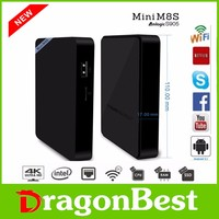 Factory price quad core kodi 16.0 mini pc android tv box , 4k player tv box m8s mini